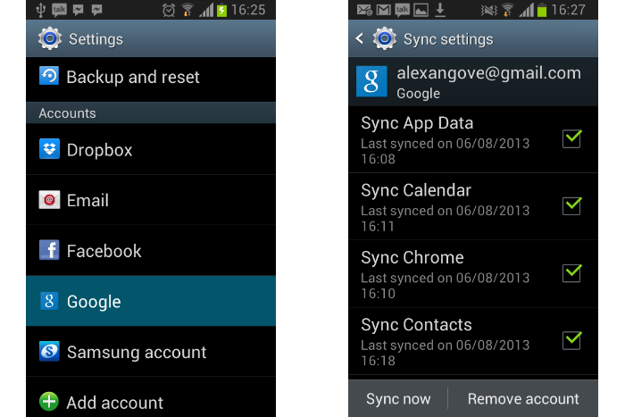 syncing Android-settings-accounts