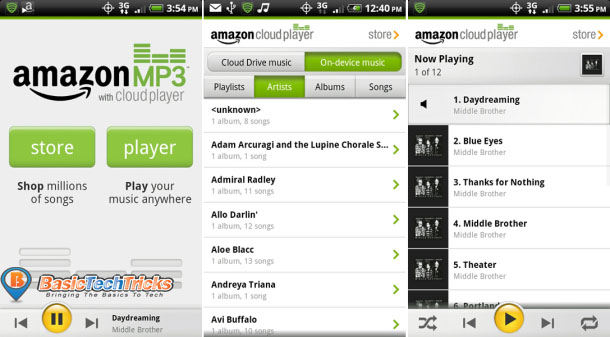 Amazon best music player for android