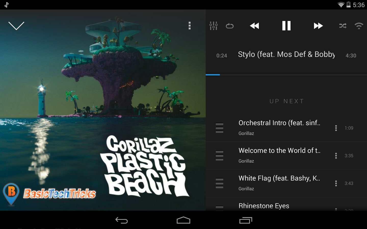 doubleTwist android best music player app