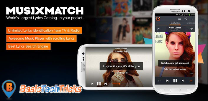 musixmatch android best music player app