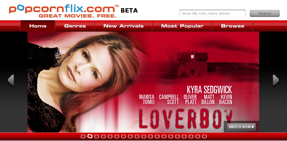 Popcornflix movie streaming site