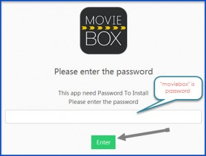 MovieBox for iOS download page