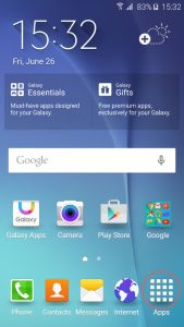 app drawer button android