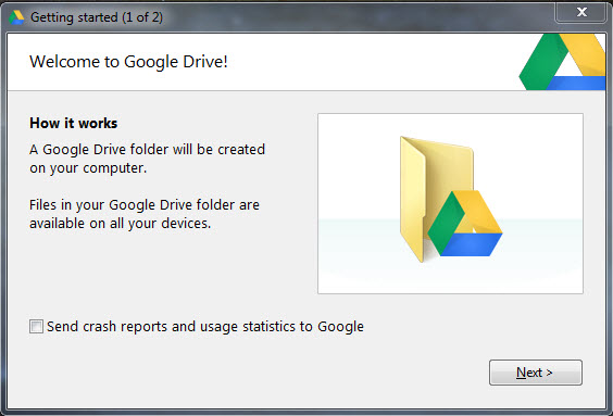 Google Drive backup PC