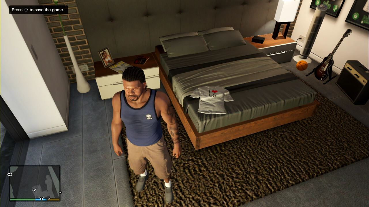 How to save GTA 5 - Sleep on the bed to save your game progress